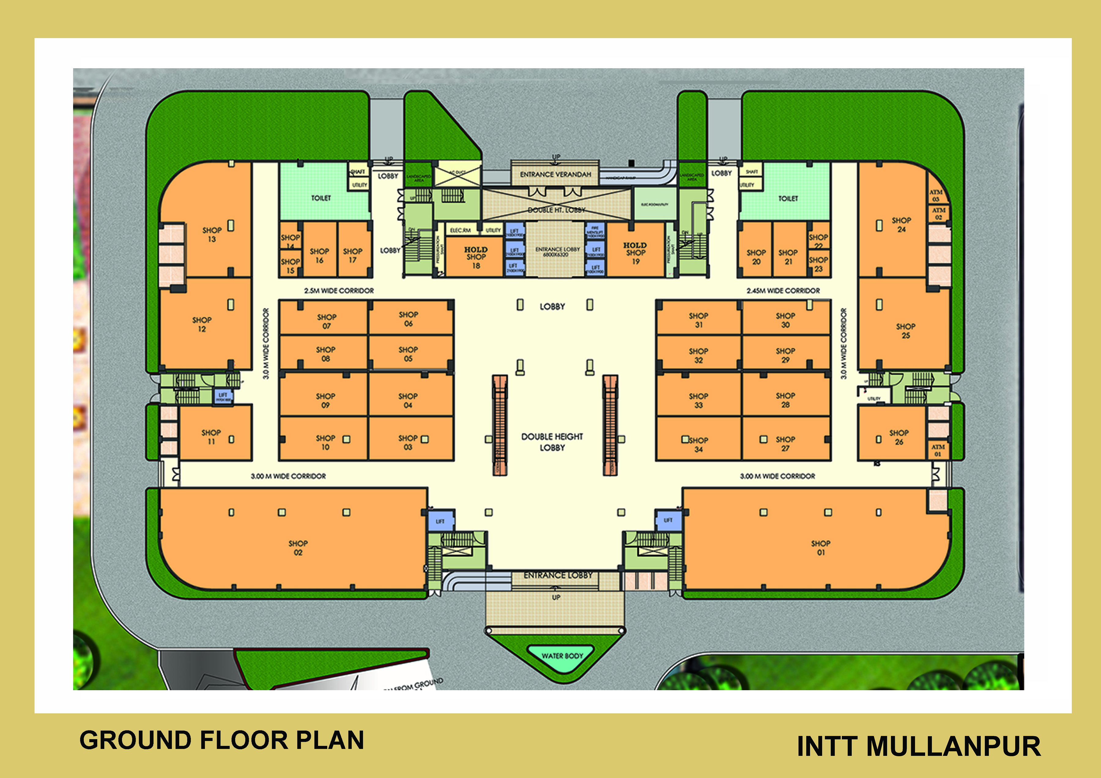 ground floor plan for intt omaxe international trade tower shops retail