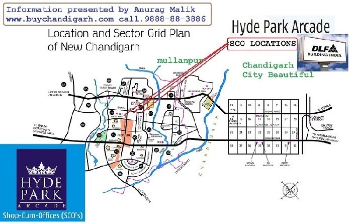 dlf hyde park shops dlf arcade new chandigarh mullanpur location map