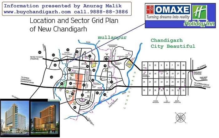 omaxe holiday inn serviced suites new chandigarh mullanpur location map