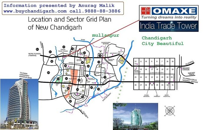 omaxe india trade tower new chandigarh mullanpur location map