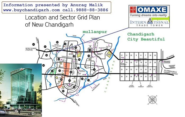 omaxe international trade tower new chandigarh mullanpur location map