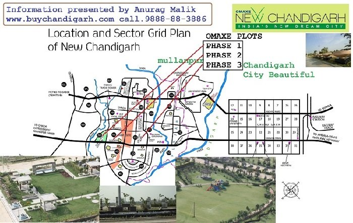 omaxe plots phase 3 new chandigarh mullanpur location map