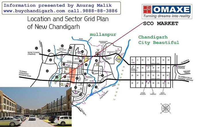 omaxe sco shop cum office phase 1 new chandigarh mullanpur location map