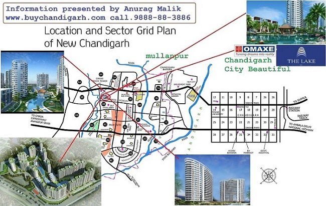 omaxe the lake high rise apartments flats luxury new chandigarh mullanpur location map