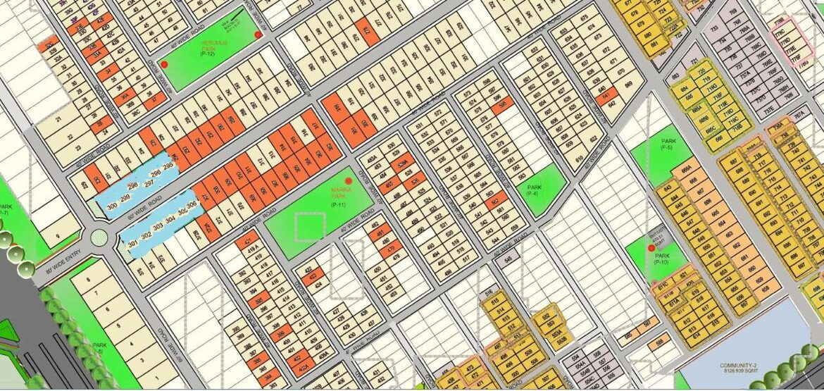 LAYOUT PLAN OF OMAXE 400 500 1000 SQUARE YARD PLOTS AT OMAXE PHASE 3 WITH NEW PLOTS LAUNCHED